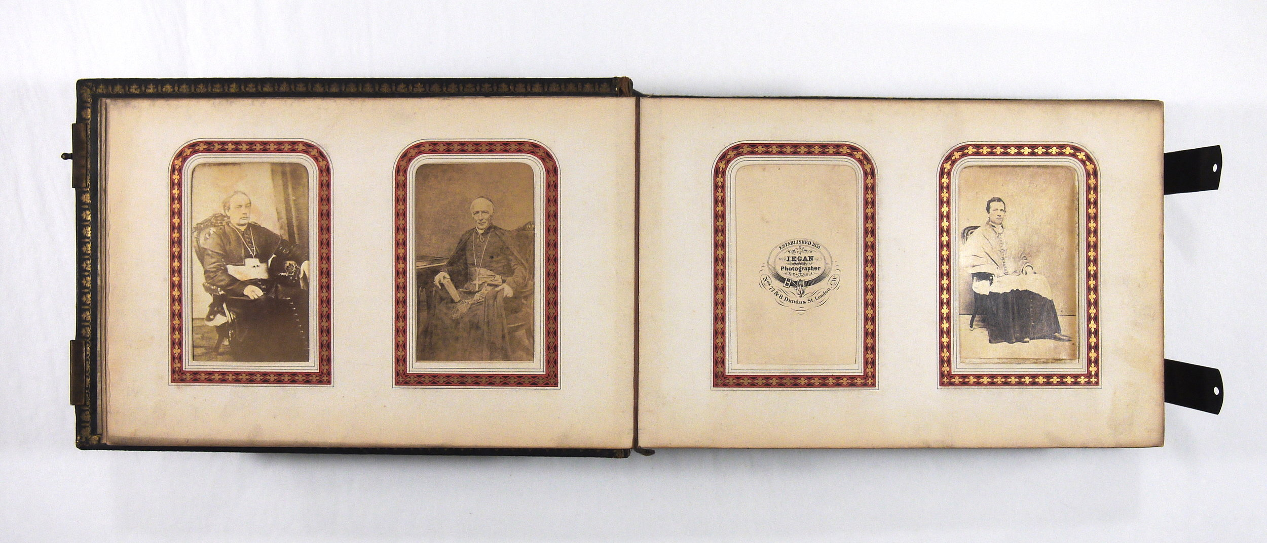 19th century carte de visite photograph album - conservation treatment