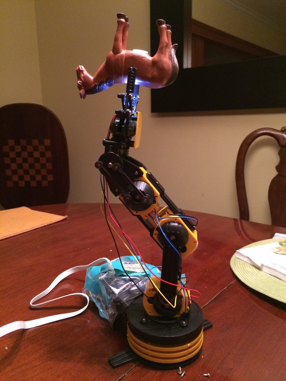 Interesting things happen when you mix robotics and horse.