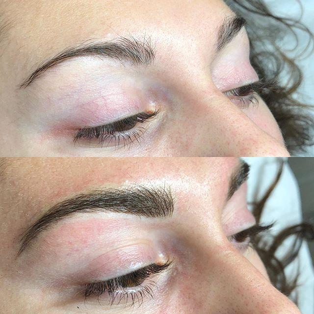 Before & after ✨ for appointments call @tigerlilysalon 805-541-9911 💖  #brows #eyebrowtattoo #eyebrows #browsonfleek #browgame #newbrows #hairstrokes #microblading #microstroking #permanentmakeup #spmu #slo #805 #sanluisobispo #natural #shareslo #tigerlilysalon #centralcoast #eyebrowembroidery #browembroidery #3deyebrows #3dbrows #6dbrows #archaddicts #bentonbrows #softap #softapbrows #powderbrows #healedbrows