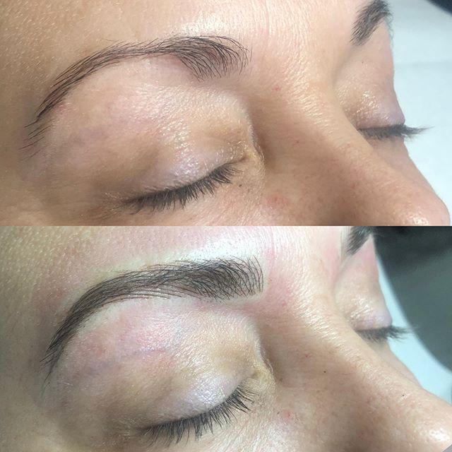 Overplucked brows? Nbd 😎 ✨ #brows #eyebrowtattoo #eyebrows #browsonfleek #browgame #newbrows #hairstrokes #microblading #microstroking #permanentmakeup #spmu #slo #805 #sanluisobispo #natural #shareslo #tigerlilysalon #centralcoast #eyebrowembroidery #browembroidery #3deyebrows #3dbrows #6dbrows #archaddicts #bentonbrows #softap #softapbrows #powderbrows #healedbrows