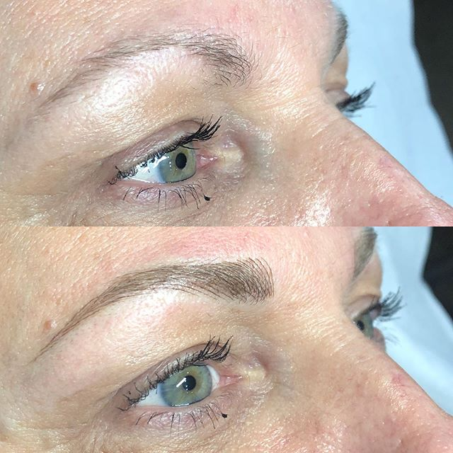 Before / after ✨ just a reminder I'm not taking clients in slo full time anymore! I'm only back on select dates. Try to schedule touchups in advance so I can get you on the schedule in the time frame you want!💖. . . .  #brows #eyebrowtattoo #eyebrows #browsonfleek #browgame #newbrows #hairstrokes #microblading #microstroking #permanentmakeup #spmu #slo #805 #sanluisobispo #natural #shareslo #tigerlilysalon #centralcoast #eyebrowembroidery #browembroidery #3deyebrows #3dbrows #6dbrows #archaddicts #bentonbrows #softap #softapbrows #powderbrows #healedbrows