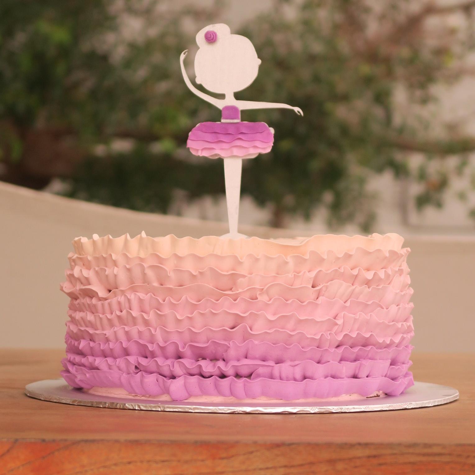 Ombre purple ruffles with ballerina topper.jpg