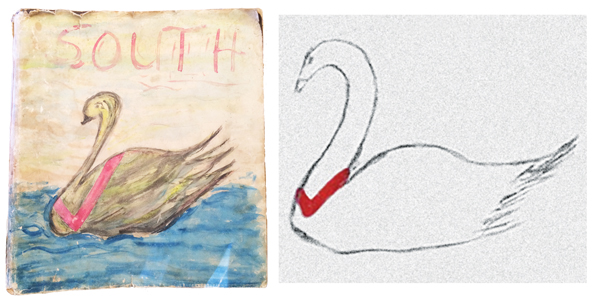 A couple of Jan's artworks when she was a kid