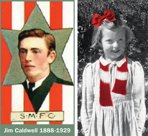 Left: Jim Caldwell, Jan's great uncle Right: Jan ready for a red and white adventure