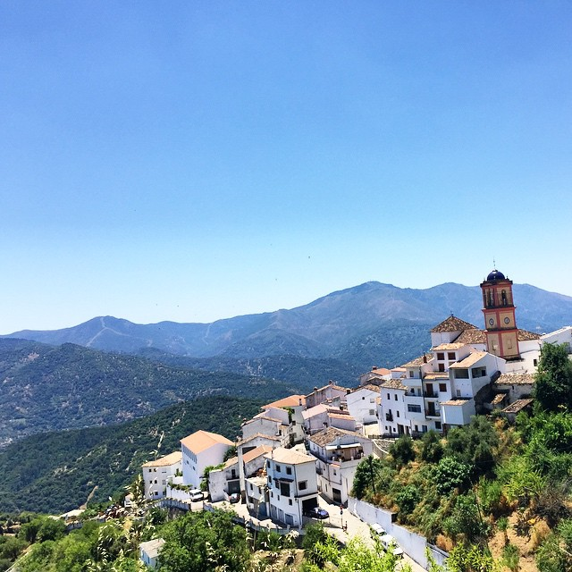 White Spanish Village up in the Andalucian Hills