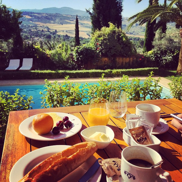 Breakfast spread with a view! (And Yes That Is A Warm Fresh GF Baguette!)