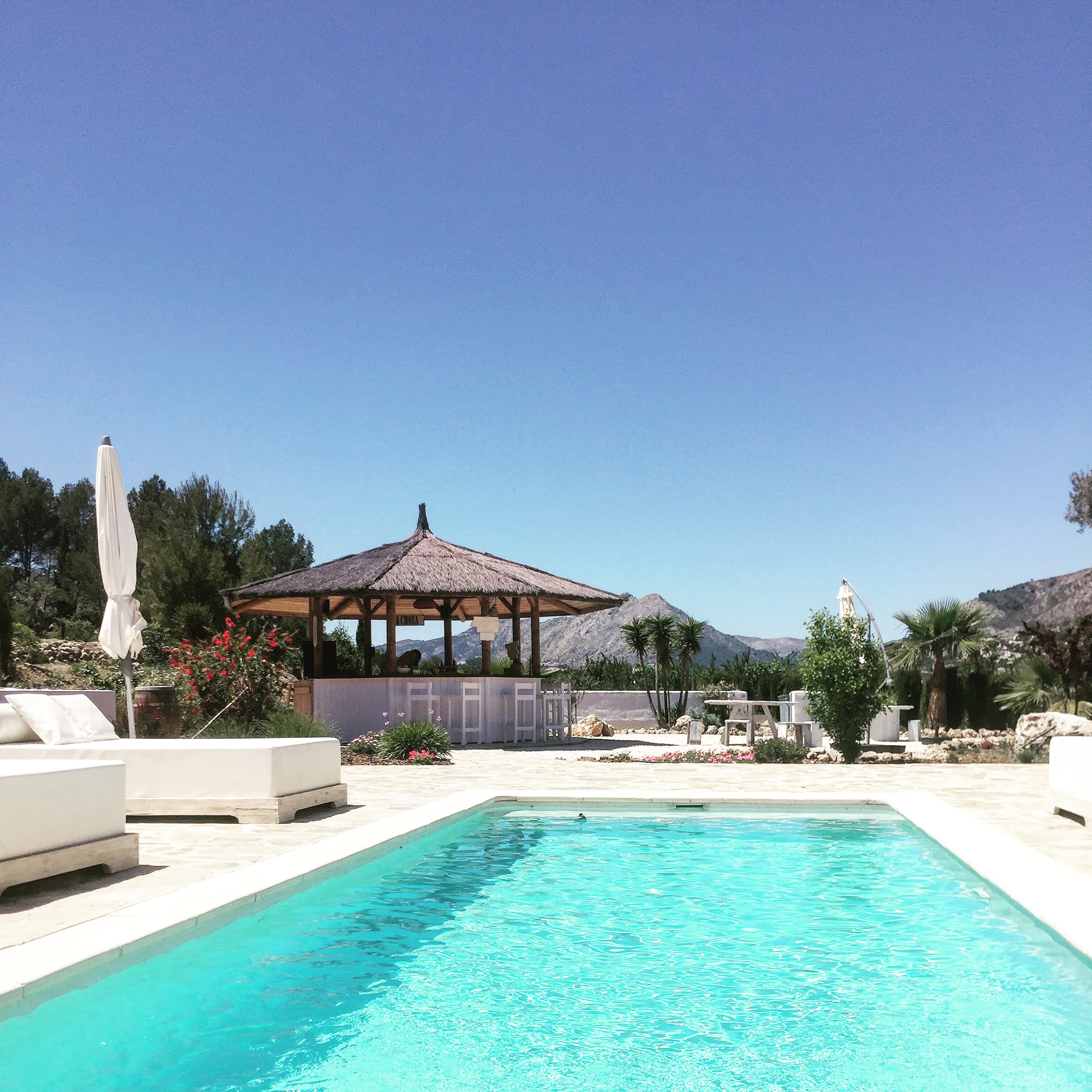 The beautiful pool & mountain view from Cuatre Finques  http://www.cuatrefinques.com