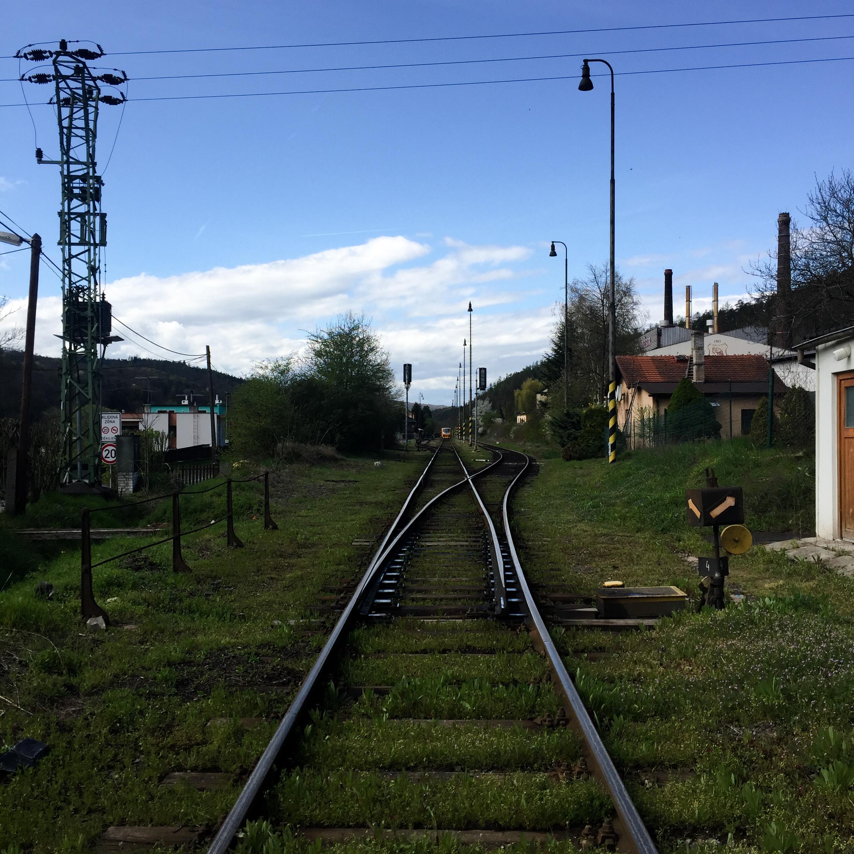 nizbor beroun glass factory train tracks czech republic ruckl crystal a.s.
