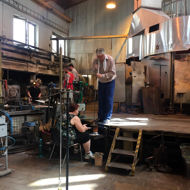 nizbor beroun glass factory iron mouldsczech republic ruckl crystal a.s. glass blowing