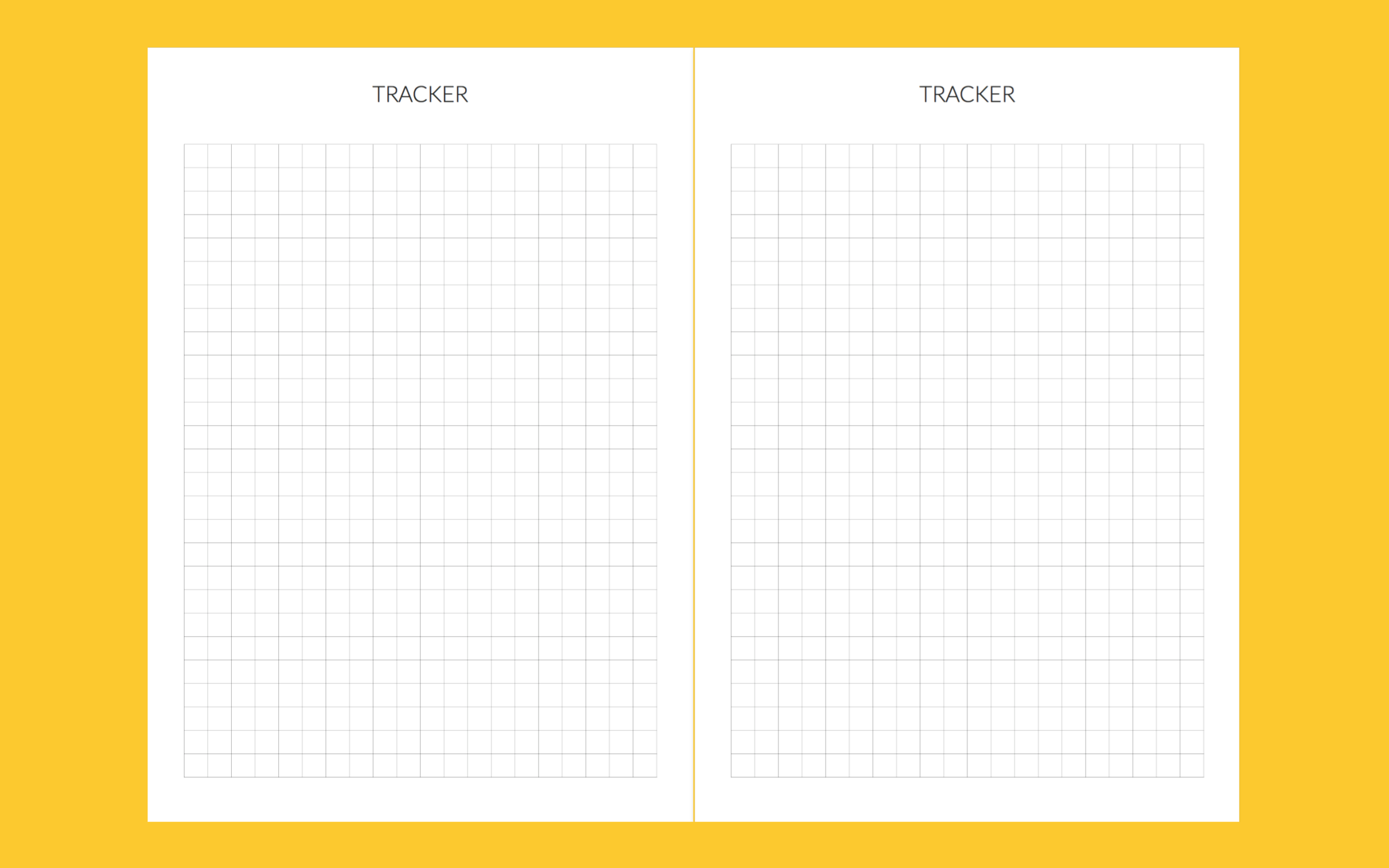 For tracking anything and everything. The grids are 6.35mm so there's plenty of space to write, even if you're just using the lines. From social media stats, to saving for your future home, this is the place!