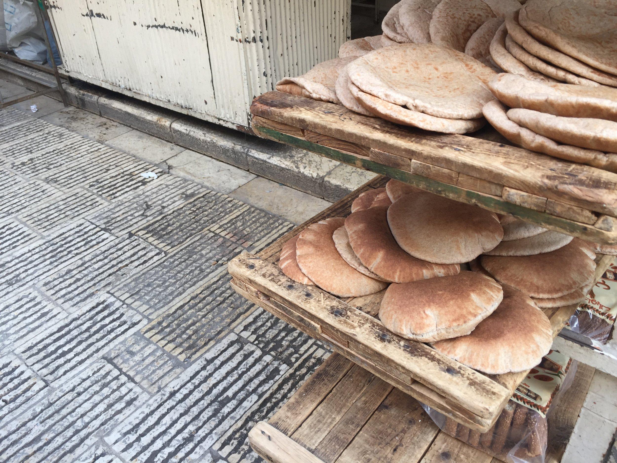Try Wonder Erasmus Exchange Israel - Nablus in 10 Images 3 - Pita bread old city