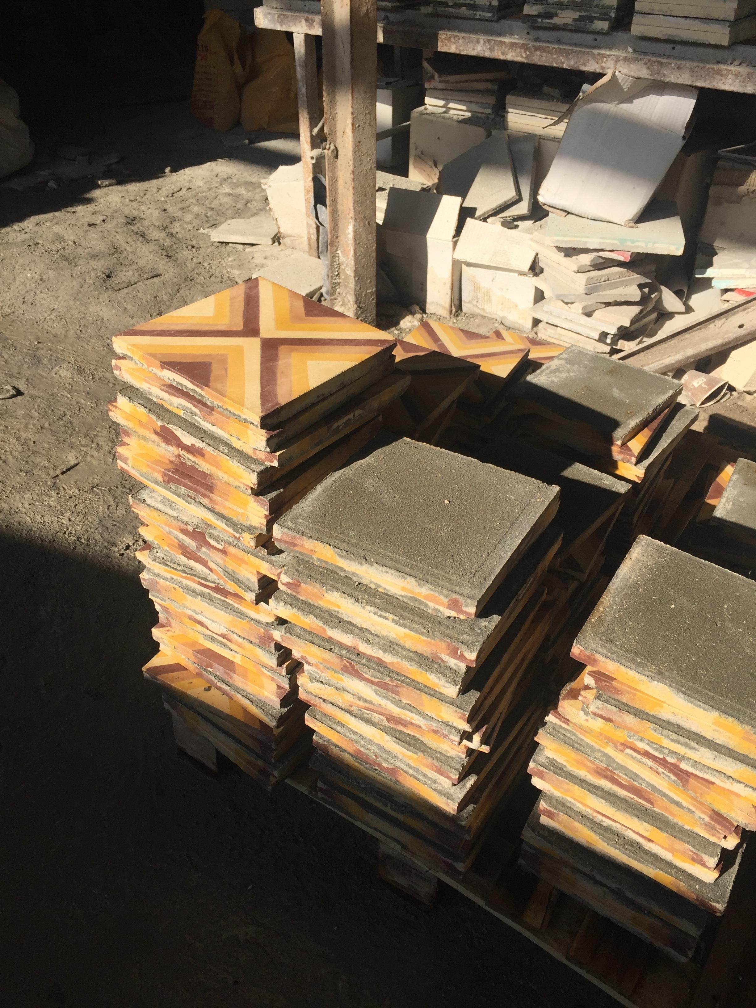 Try Wonder Erasmus Exchange Israel - Nablus in 10 Images 7 - traditional encaustic tile factory
