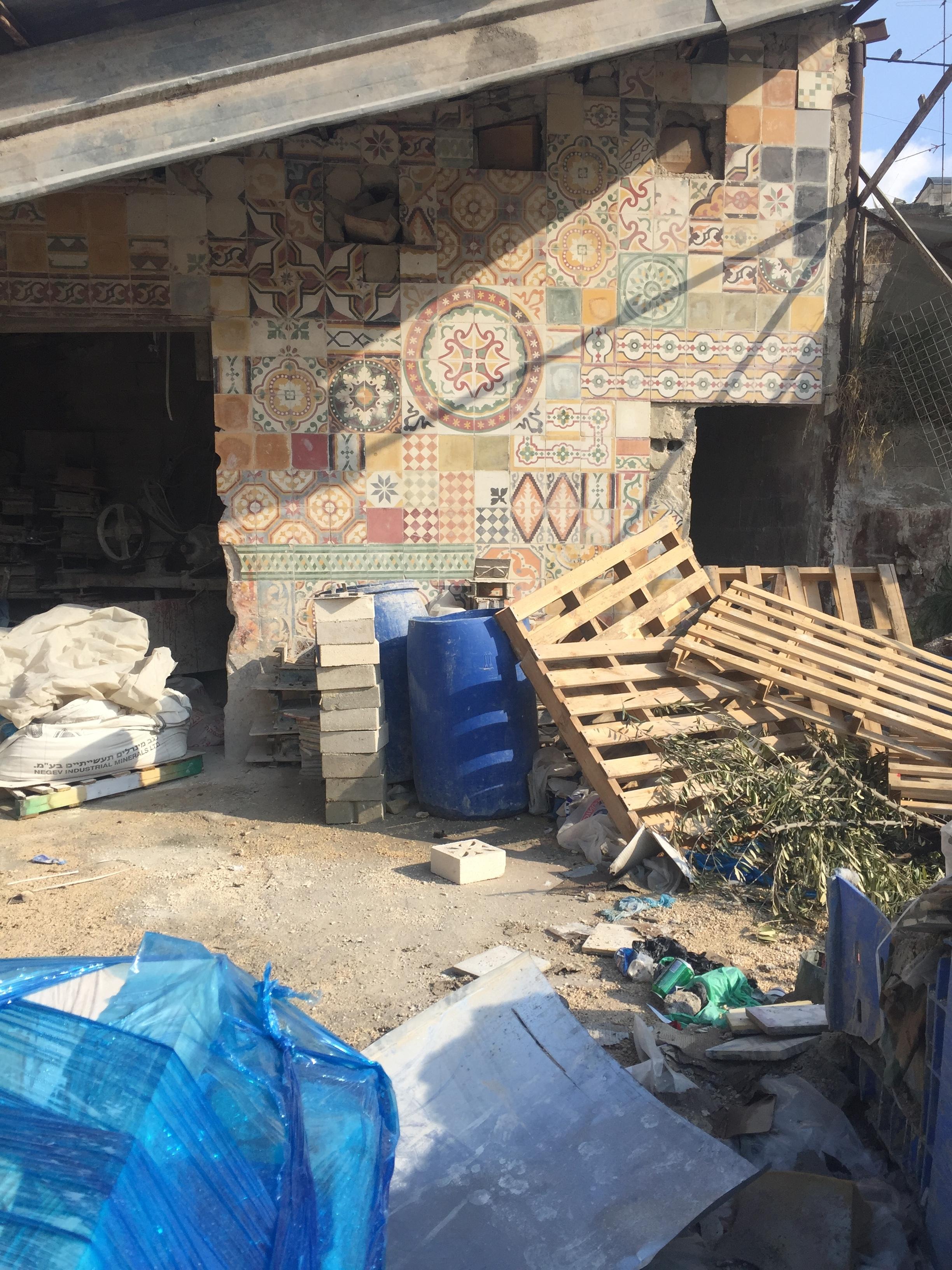 Try Wonder Erasmus Exchange Israel - Nablus in 10 Images 8 - traditional encaustic tile factory