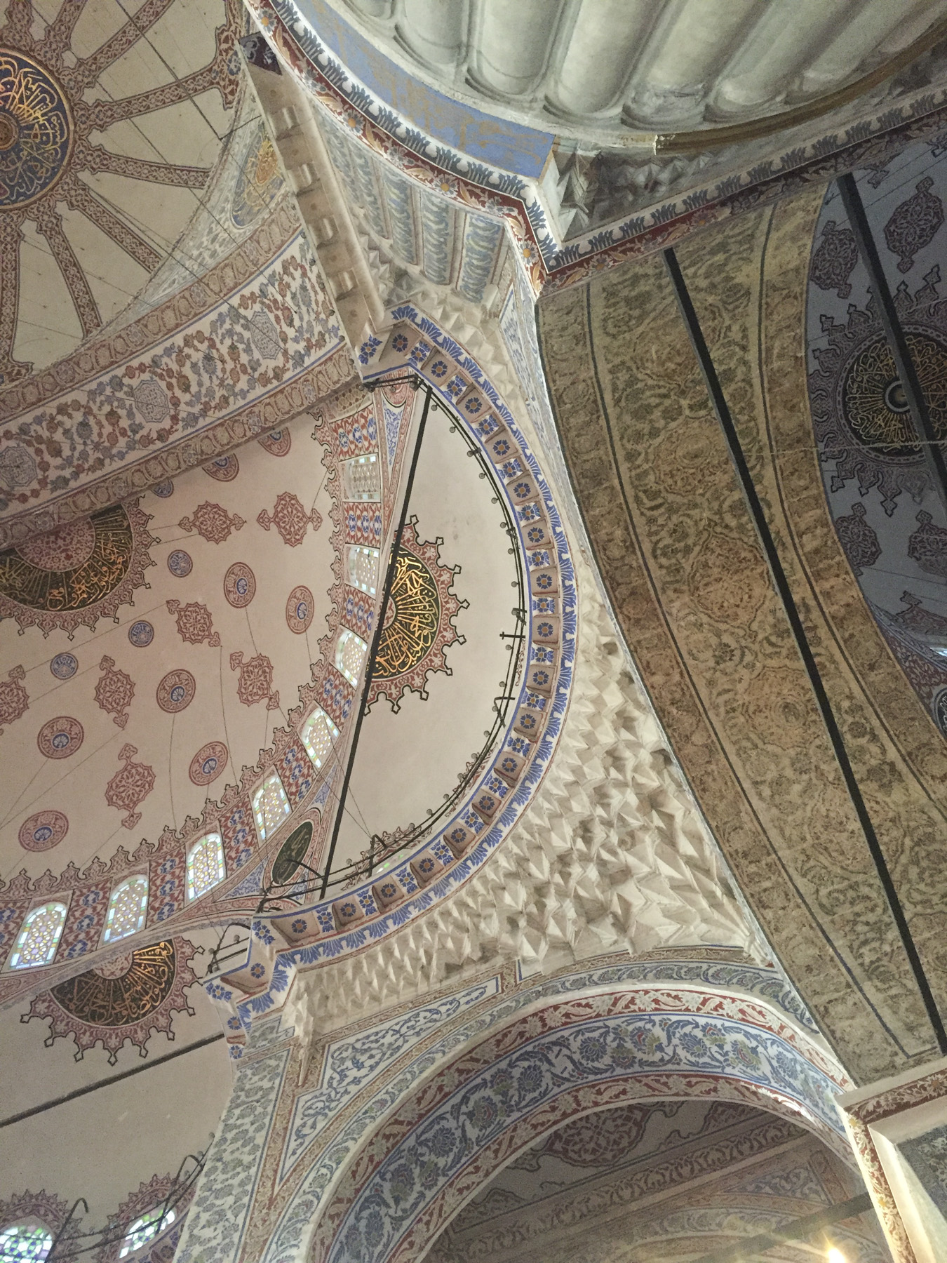 try wonder inspo istanbul turkey blue mosque ceiling