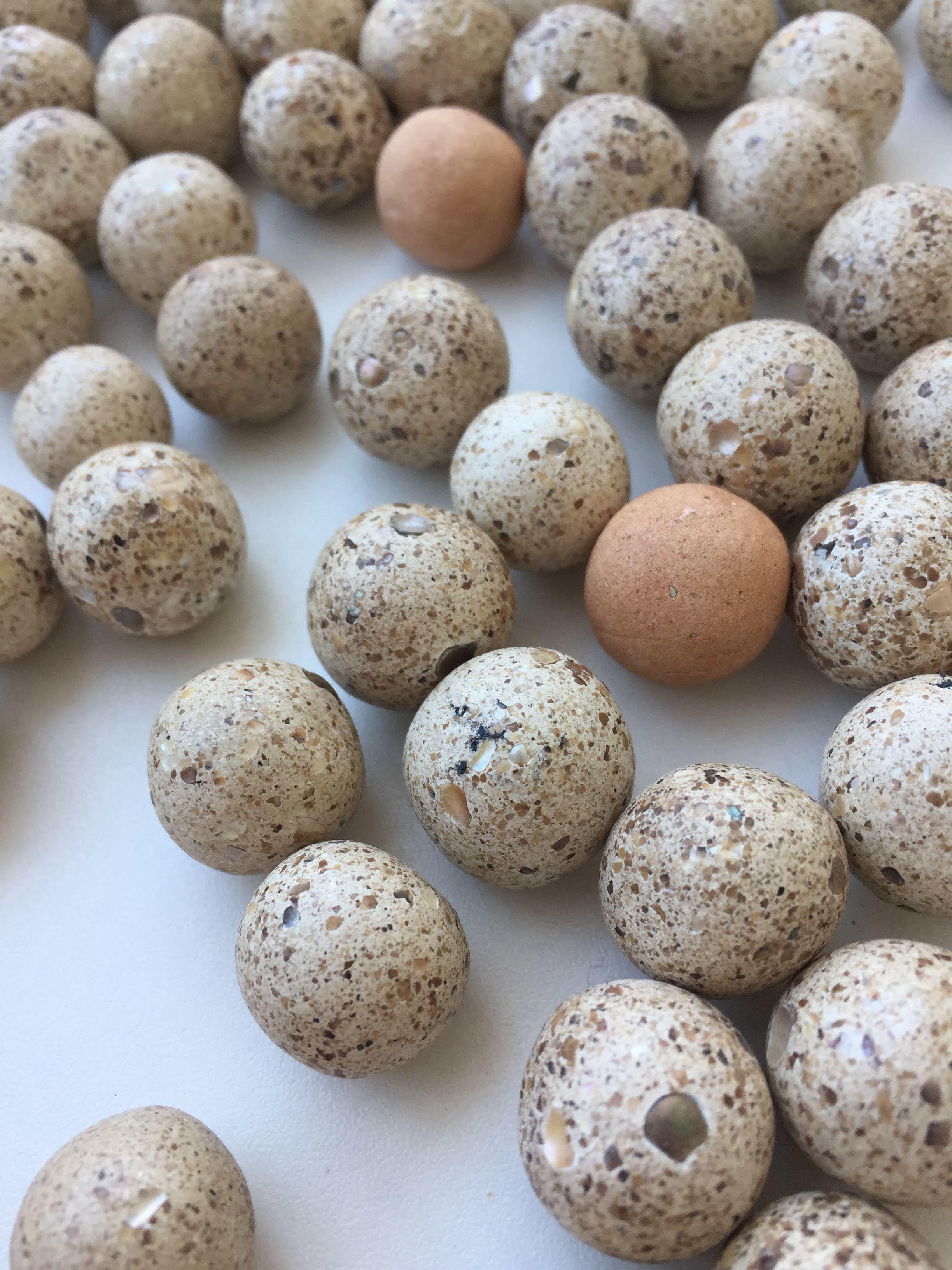 white universe beads