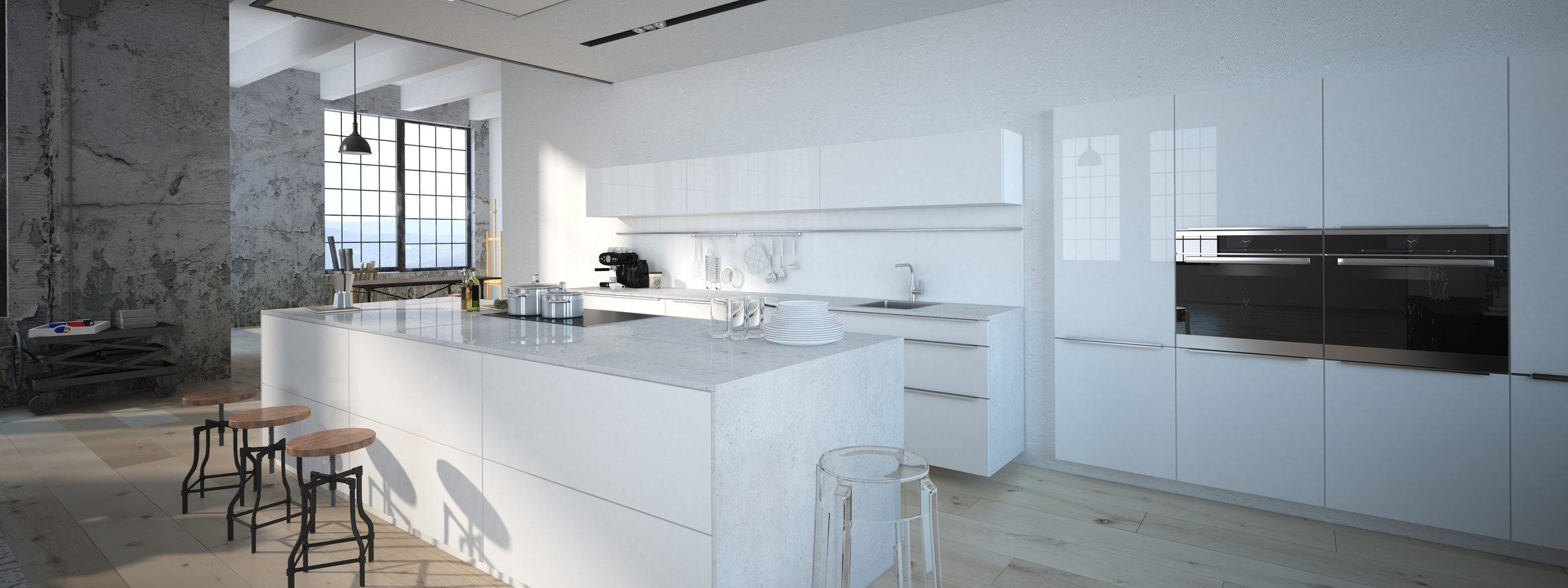 CQ853 Bianco Cristal Countertop