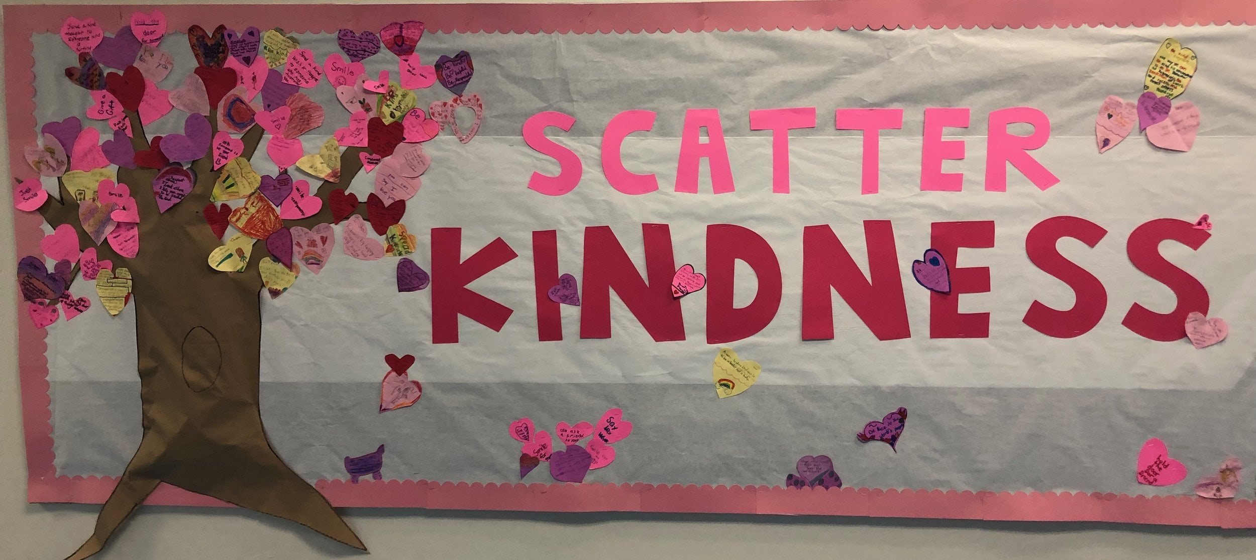Scatter kindness to yourself, family/friends, and people who have been unkind to you!