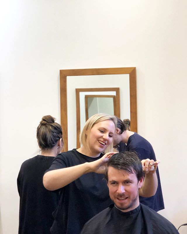 We need to look good too! 🕺 #staff #downtime #ourtime #salonbonding #relax