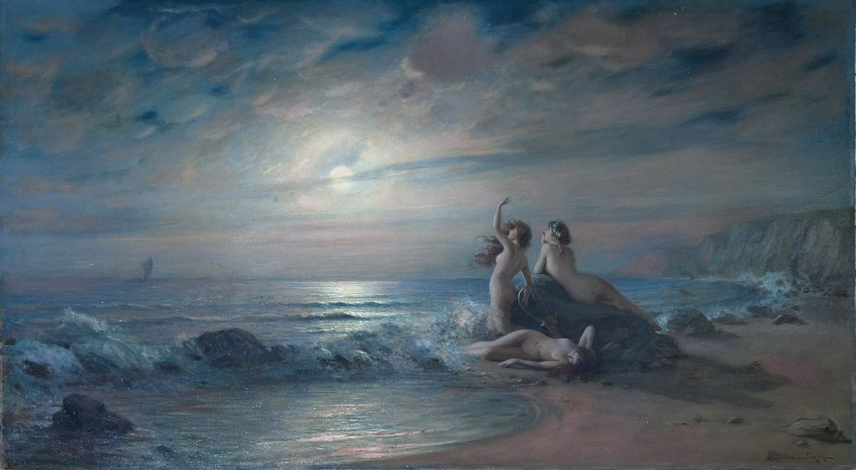 Victor Karlovich Shtemberg (1863-1921), Sirens by the sea