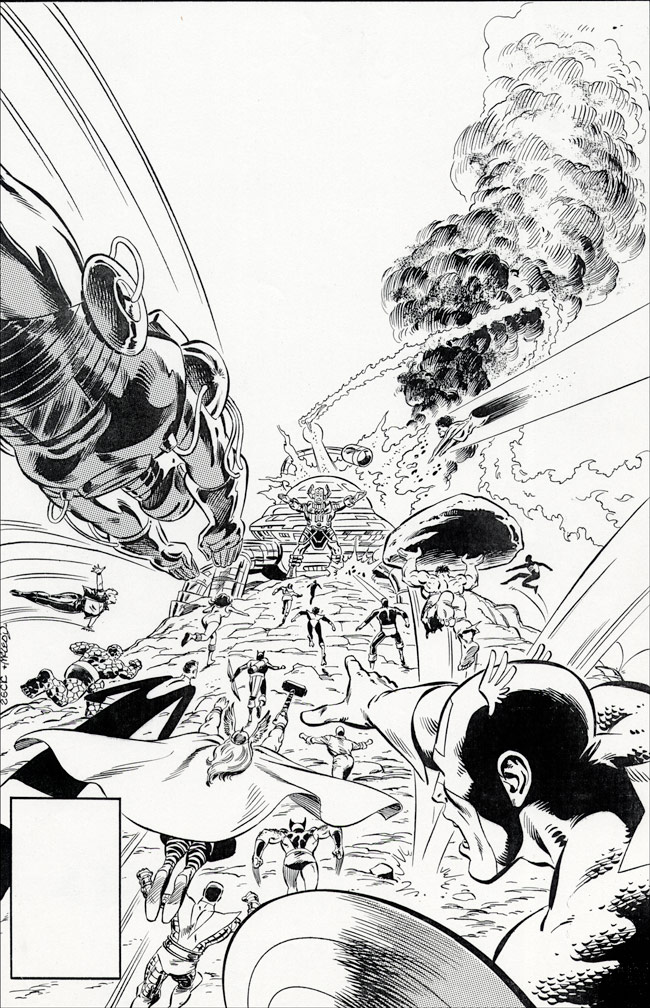 Secret Wars #9 inks