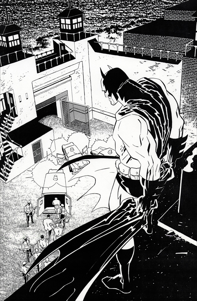 Batman: LODK #70 inks