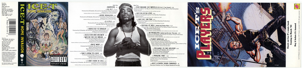 Ice-T CD insert