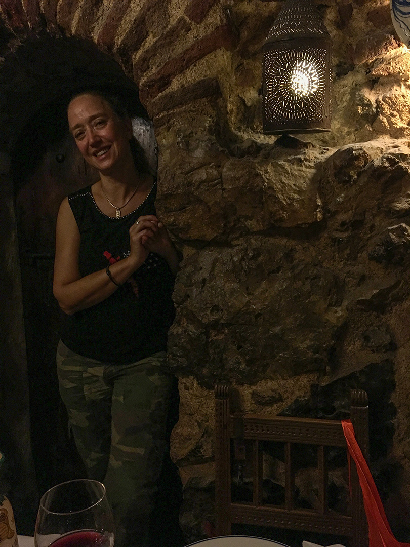 Botín also converted their underground for dining, so our underground Madrid theme continued.