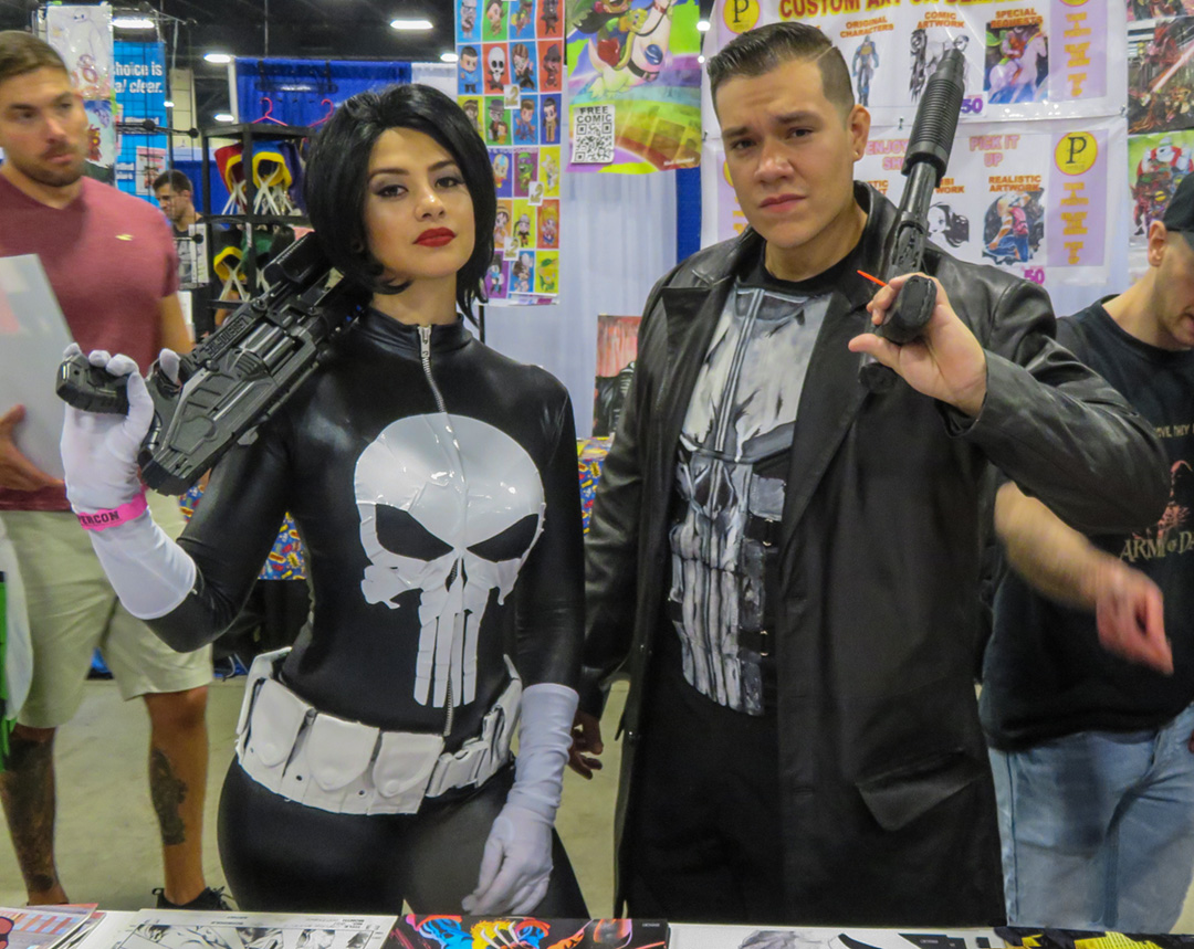 Lots of other Punisher attire in South Florida.