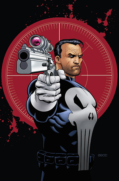 Punisher: A convention exclusive illustration for the BIG WOW COMIC CON 2014, San Jose, CA.