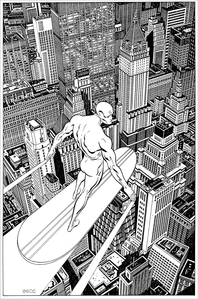 Pinup Recreation: Silver Surfer Annual 4
