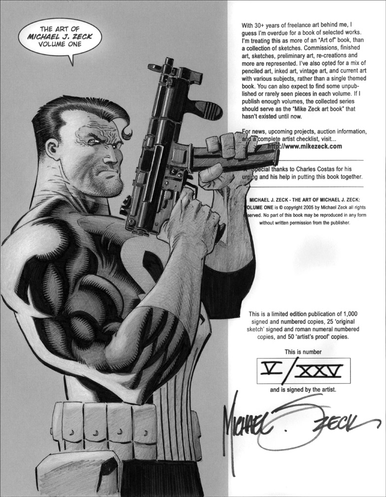 Punisher in Sketchbook