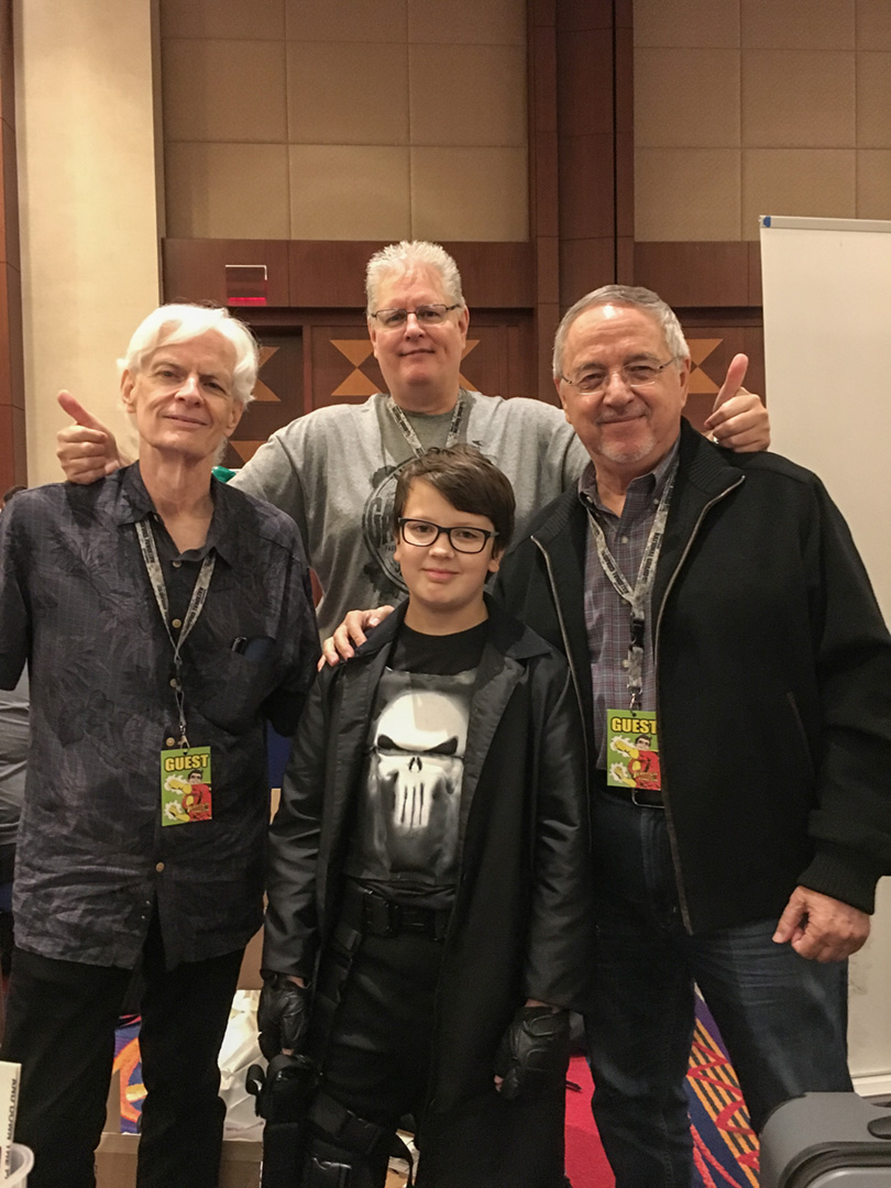 Terrificon  was the only event this year to bring the  Punisher team  together,..  Steven Grant ,  John Beatty,  and  me . In honor of the occasion, the  Punisher  himself showed up at the event. The three of us were eager to grab a photo op with him, of course!!