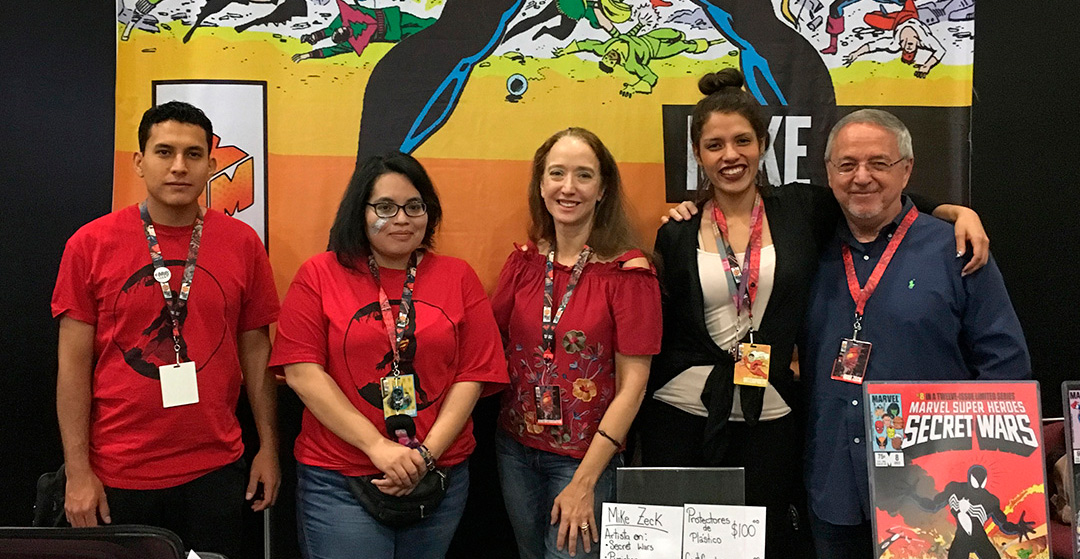 """Renee and I couldn't have asked for better help at La Mole.  Alejandro  and  Grace  were two of the """"red shirt"""" staff assigned to our tables. Between Renee and me is  Alex , who was my interpreter over the weekend. HUGE thanks to these folks and the rest of the crew."""