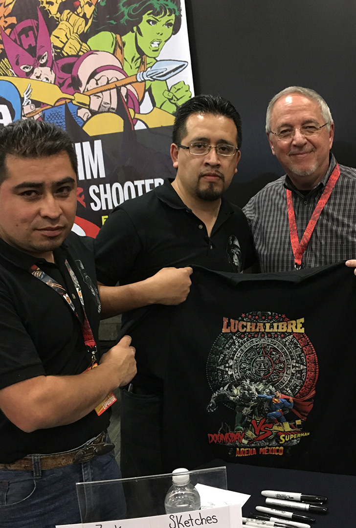 Thanks guys for being a part of the show and for the official convention shirts.