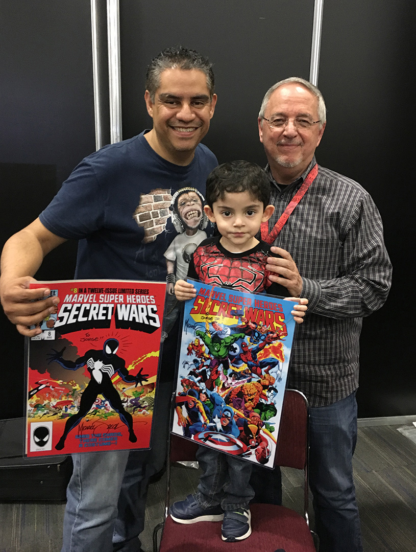 Where did Jorge Jr. acquire his fine taste in comics?.. His dad of course. Thanks Jorge!