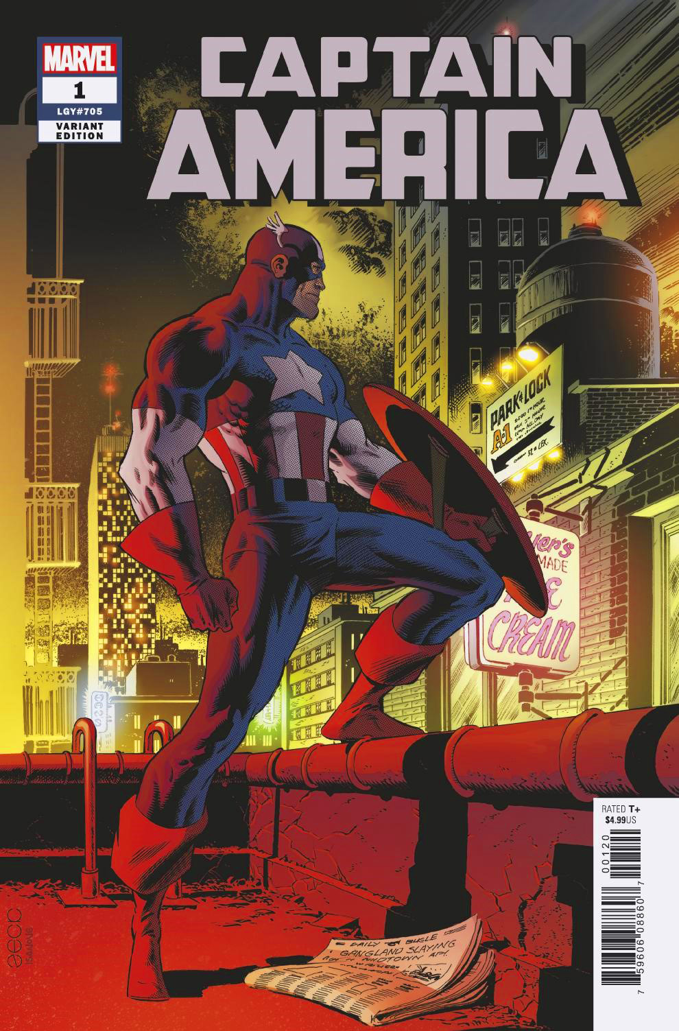 Captain America #1 Mike Zeck variant cover.