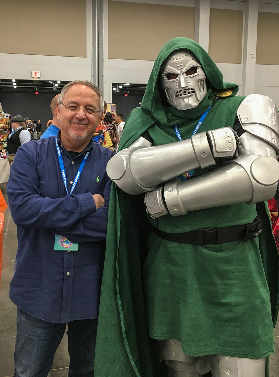 TIDEWATER COMIC CON Not exactly Secret Wars #10 Doom but still awesome cosplay.