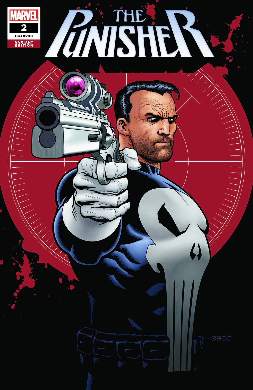 Punisher #2 Zeck exclusive with trade dress.