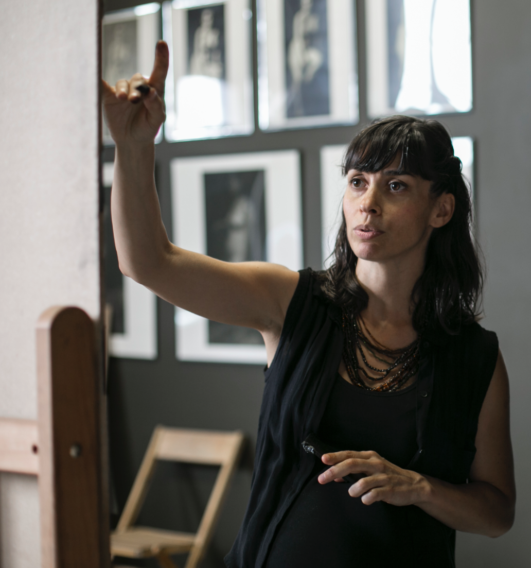 Amaya Gurpiede, artist and principal instructor at The Florence Academy of Art-U.S. Branch in Jersey City, New Jersey, on July 14, 2016. (Samira Bouaou/Epoch Times)