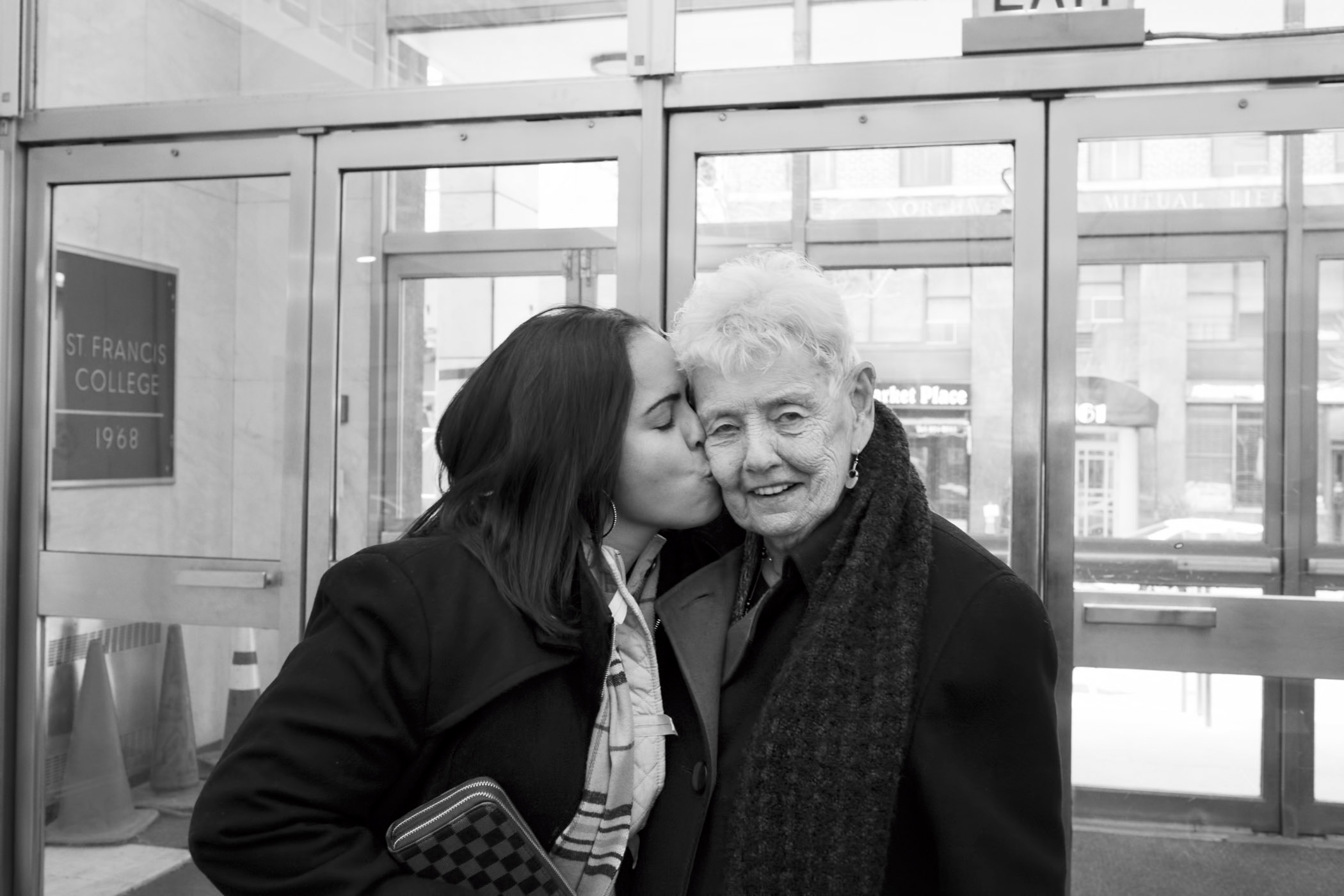 Evelyn with Sister Elaine Roulet, a nun who worked in Bedford Hills Correctional Facility. Brooklyn, NY (2015)