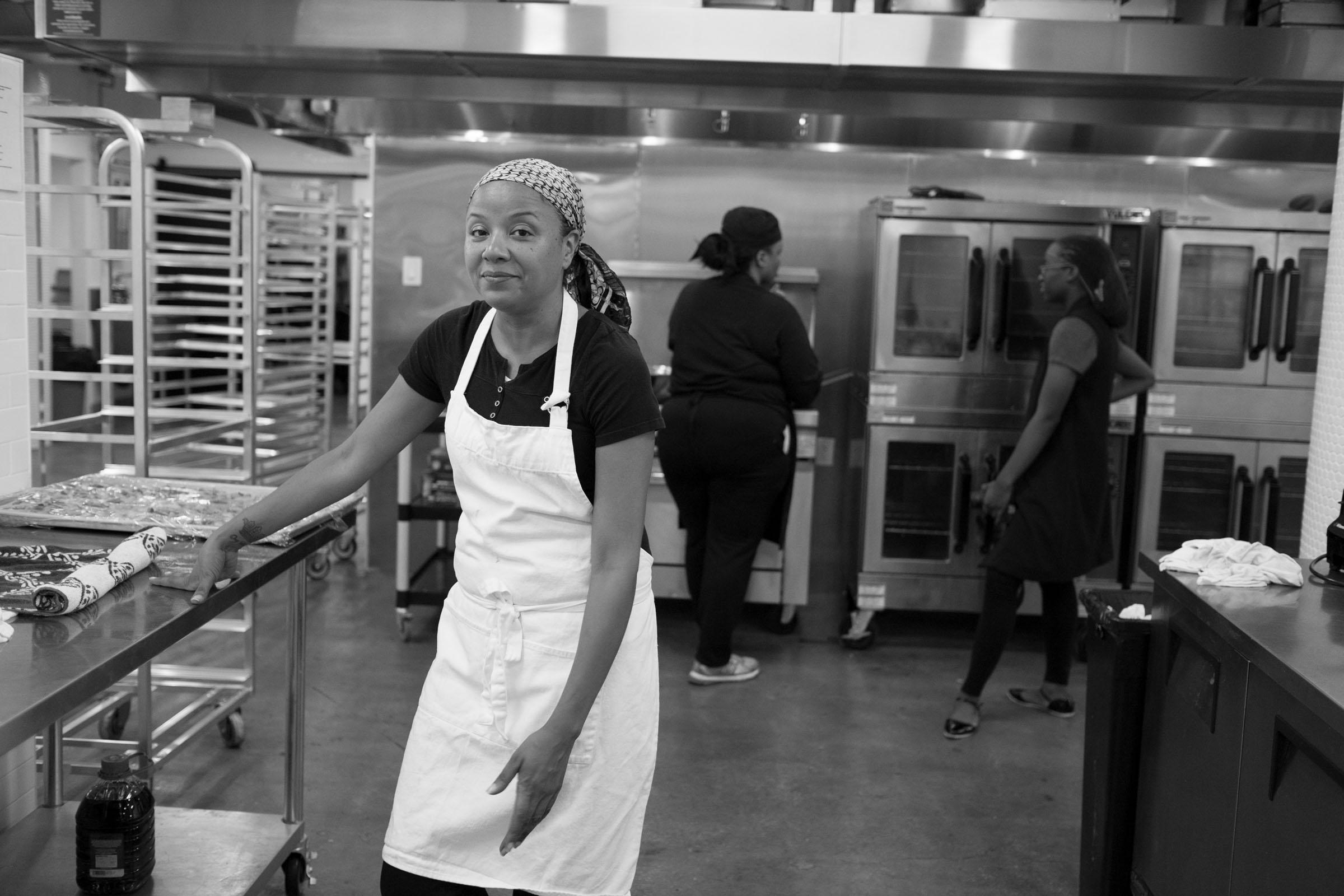 Keila on a catering job. Brooklyn, NY (2016)