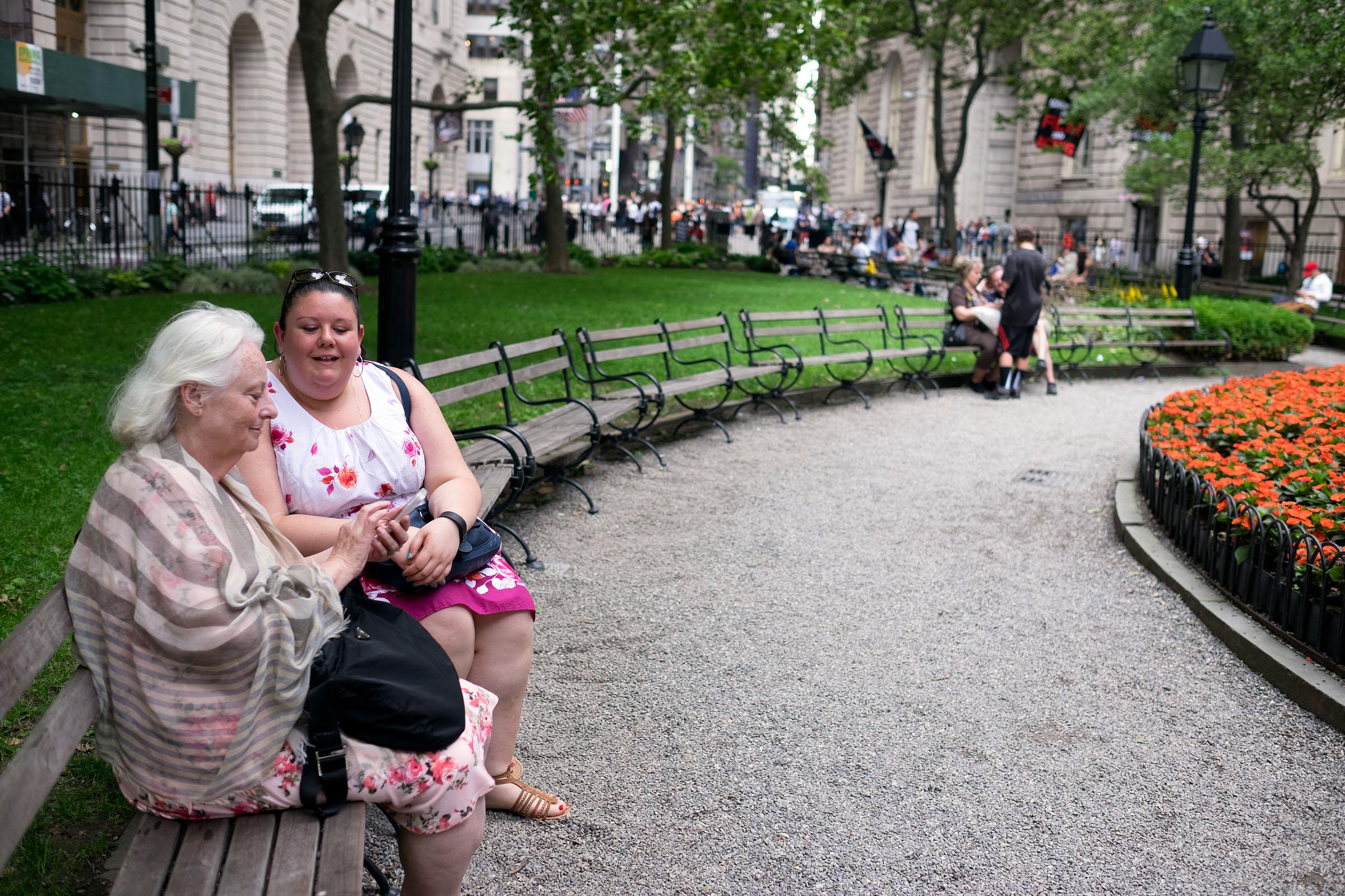 Meeting a friend after work. New York City (June 23, 2017)