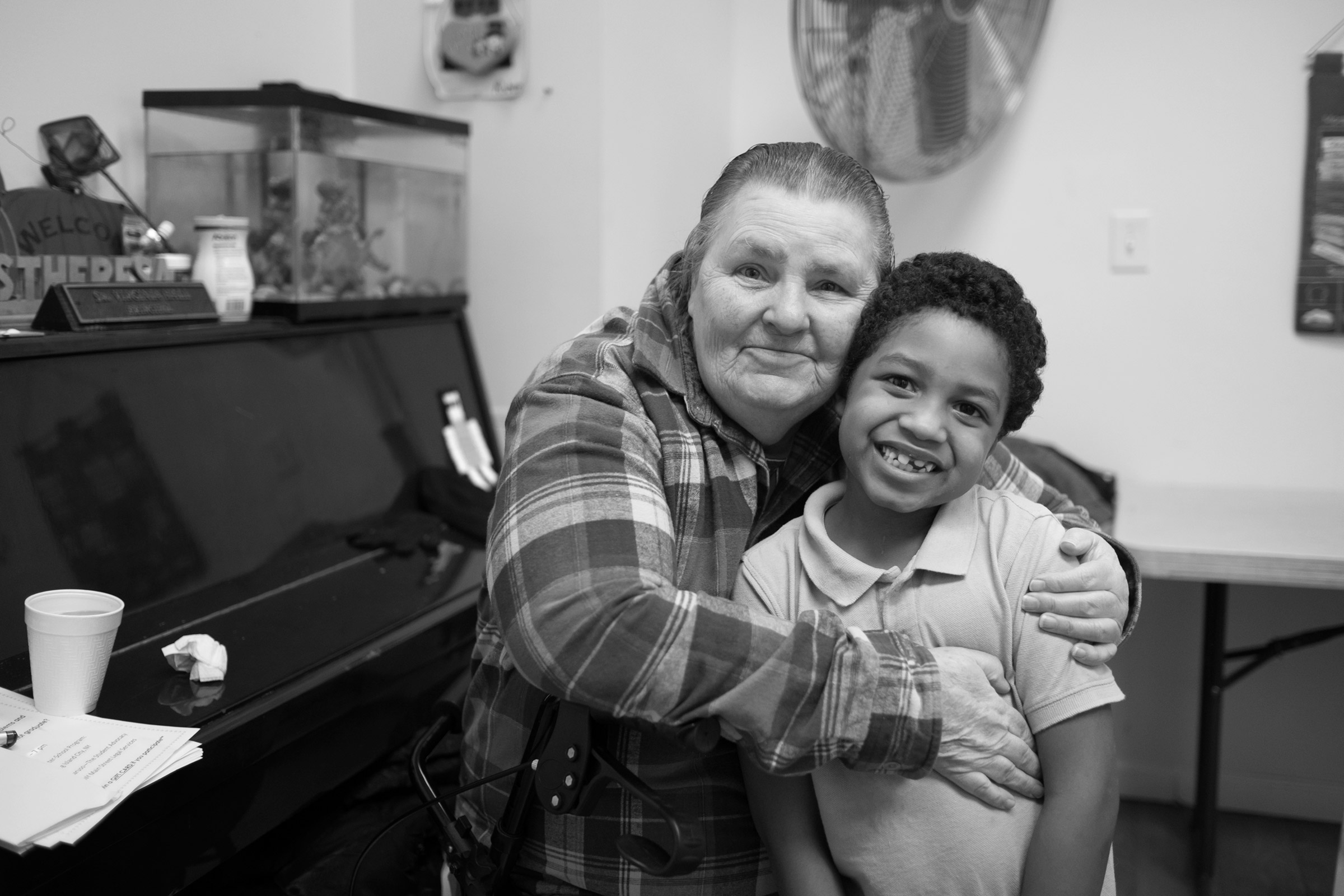 Carol with Cecil, now age six. Long Island City, NY (February 1, 2018)