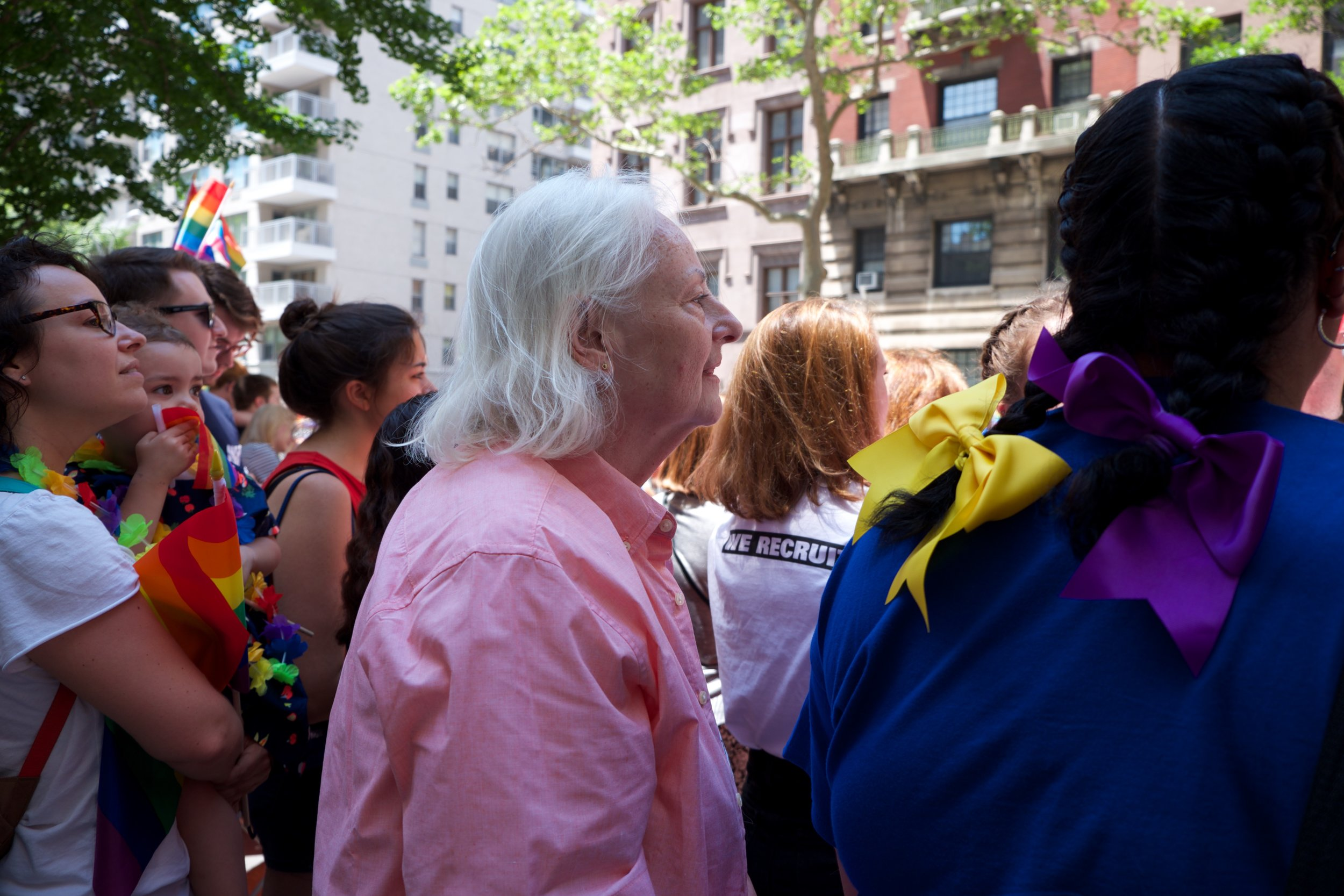 Watching the Gay Pride parade. Fifth Avenue, New York City (June 25, 2017).