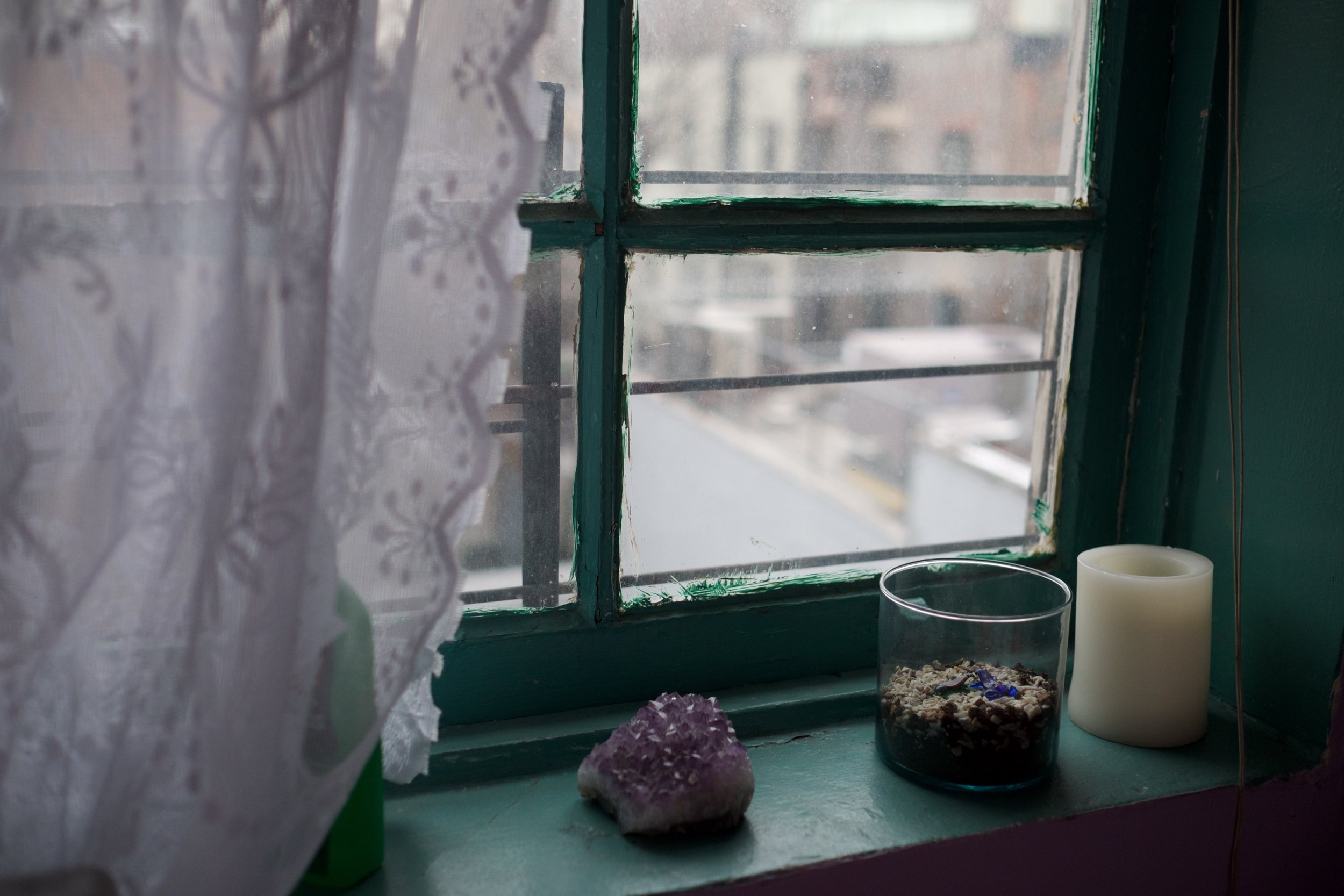 Karen's bedroom at the homeless shelter, six months after her arrival. East Village, NY (December 17, 2017)