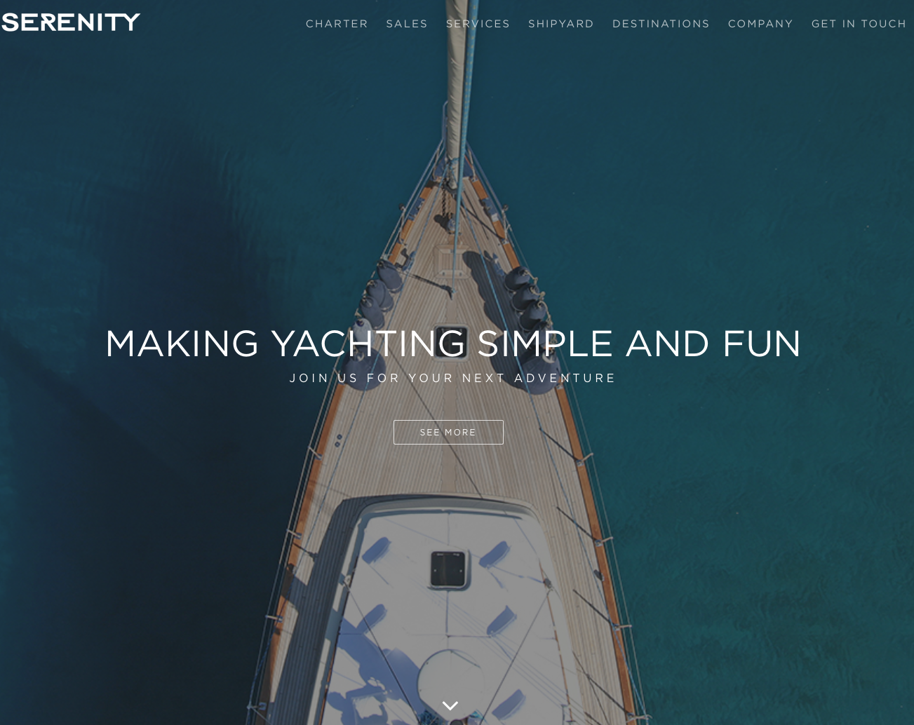 Serenity Yachting - A family run yacht charter and boatbuilding business with a commitment to excellence and amazing customer service. I rewrote their website to show why a vacation with them is truly special -- and a refreshing change from their corporate competitors. Check out the full site here.