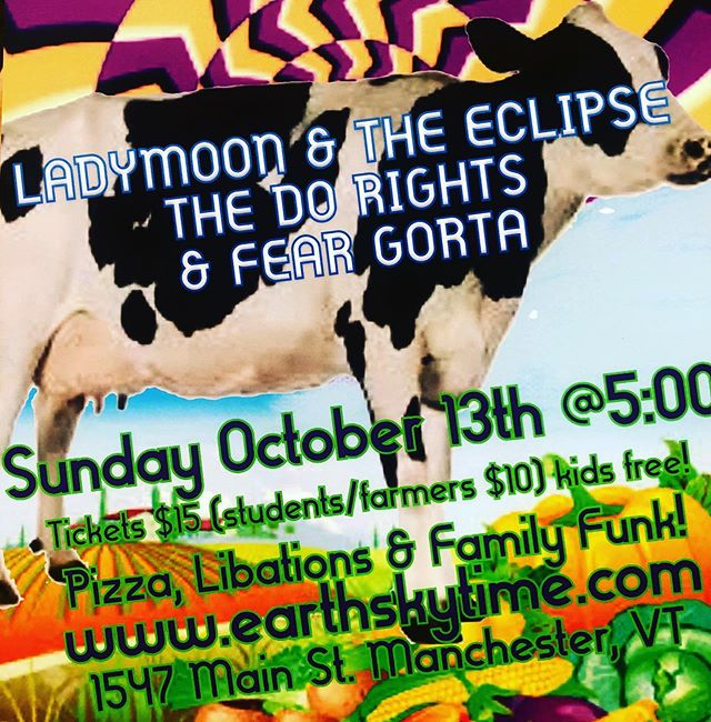 FUNK ON THE FARM TONIGHT! FULL MOON - SUKKOT STYLE!  @ladymoonandtheeclipse + @thedorights + @fear.gorta! Music starts @ 5:00 Bus-fired pizza, roasted winter squash, Ginger Libation, local beer.  Come early and help us build a sukkah / harvest party fort You know we want the funk ...on the farm!