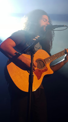 """Claudio Sanchez performs """"Ghost""""    photo by Jessica Klausing"""