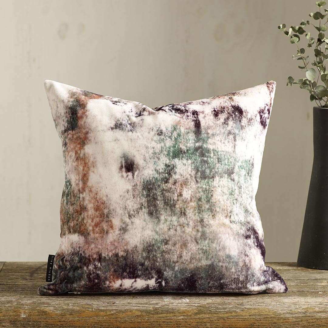 EDEN Velvet   - Designed by Line Nilsen. Printed in England, made in Nottingham,duck feather insert Available in more colours and also as silk satin.