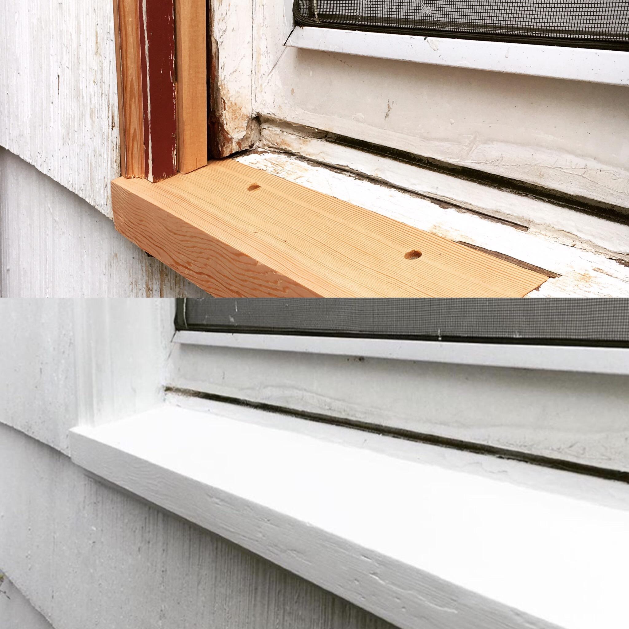 Exterior weather damage repair